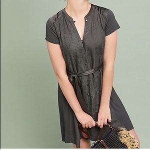 Anthro Tiny Sag Harbor Embroidered T-shirt Dress